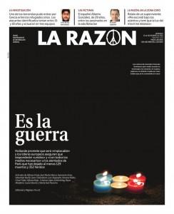 Titelseite La Razón
